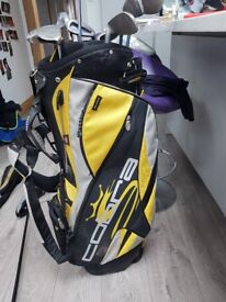 Great set for Novice Gold bag set irons 2 ball putter 1 cobra driver and wilson cub