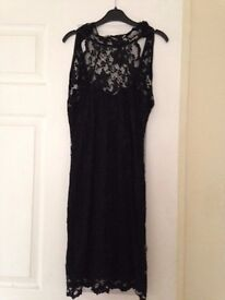 NEW UNWORN BLACK LACE DRESS SIZE 8