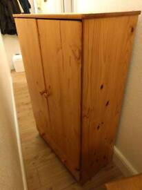 Small pine cupboard with shelves
