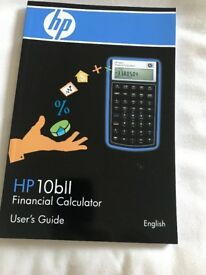 HB 10 b 11 Financial Calculator and guide book. Perfect condition.