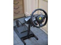 Thrustmaster Ferrari 458 Italia Steering Wheel for XBOX 360 and Ultimate Steering Wheel Stand