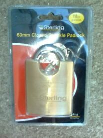 sterling closed shackle padlock