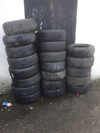 100 free tyres ideal for garden projects can deliver