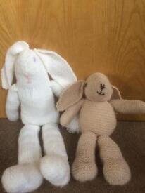 Two hand made teddies