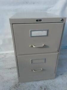 Large two drawer steel legal size grey file cabinet. 15 Wide 28 Deep 27 1/4 High