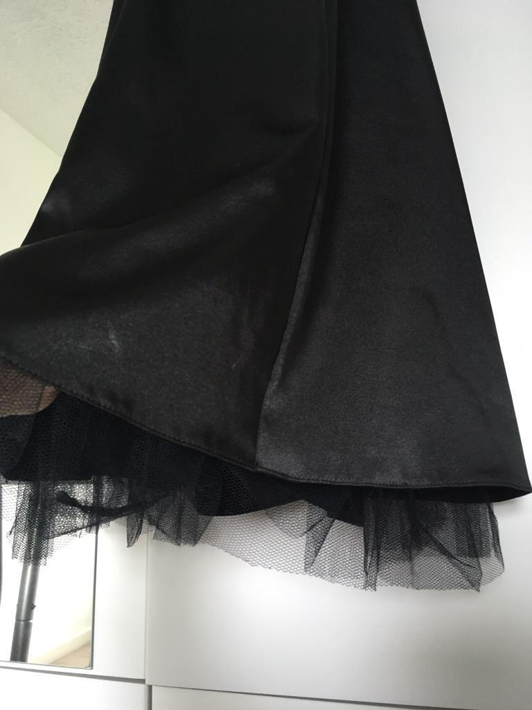 Black Satin Prom Dressin Stockport, ManchesterGumtree - Black halterneck satin prom dress with lace bottom & jewelled midline. Size 12, would fit a 10. Worn once