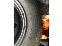 Dunlop 175/70 R tyres and rims