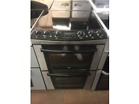 60CM BLACK STAINLESS STEEL ZANUSSI ELECTRIC COOKER