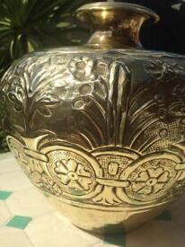 Stunning Solid Brass Urn/Vase