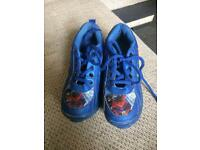 Spiderman shoes with roller skates