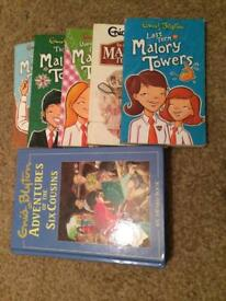 Books 2 to 6 of Malory towers and another book