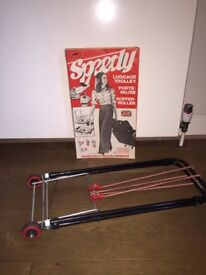 Speedy Luggage Suitcase Metal Trolley