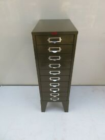 Metal Chest of Drawers - 1940's - Tool Drawers - Mini Drawers - Vintage