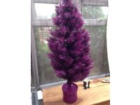 Purple fibre optic Xmas tree