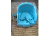 Blue, feeding booster seat, baby, toddler, good condition.