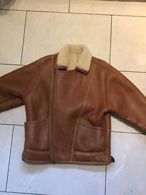 S5 area of Sheffield. Men's leather and sheepskin flying jacket... motor bike / scooter perfect.