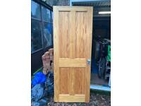 Varnished 4 panel Pine door - 30inc NOT the cheap knotted ones !