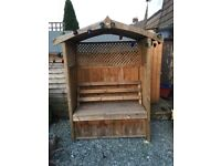 Large Garden Arbour Seat With Storage