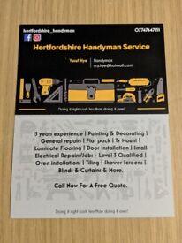 Handyman, labourer, painter & electrical repairs in Hertfordshire