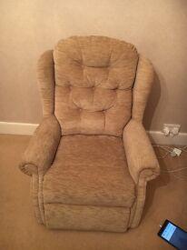 Beige arm chair good condition