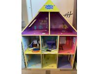 Peppa pig wooden dolls house