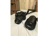 Nikon D3300 with 18-55 + 55-300mm lens kit and accessories!!!