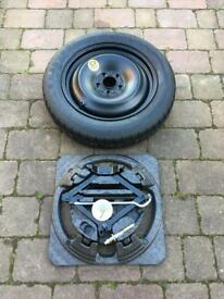 Ford Focus mk2 05-11 Space saver spare wheel and jack kit.