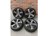 Genuine 18in VW Golf R Cadiz alloys with 225/40/18 Pirelli tyres (Volkswagen Audi Seat Skoda Caddy)