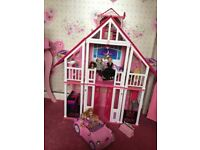 Barbie California house and car