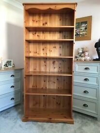Pine bookshelf for sale.