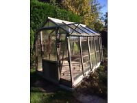 WOODEN GREENHOUSE APPROX 8 X 6