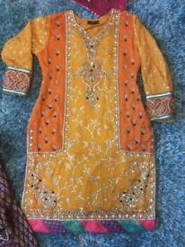 Mehandi sharara suit