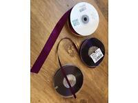 Purple ribbon and bags - wedding