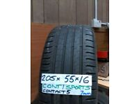 matching set of 205 55 16 CONTIS all 6mm tread £50 pair or £90 for set of 4 can fit foc if req