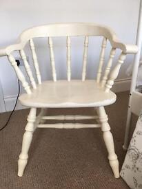 Solid farmhouse chair