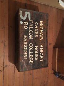Vintage metal storage box