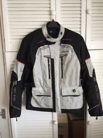 Men's Richa black and grey bike jacket