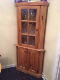 pair of Farmhouse style corner cupboards