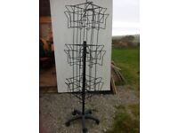 Metal spinning double card rack ideal craft sales etc sound although worn!