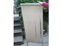 "THREE USED VERTICAL BLINDS - ALL 46""x long x 23""x wide-8 BLINDS PER SECT 3 1/2"""