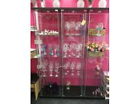 Glass display cabinets x 3. £40 each or 3 for £100