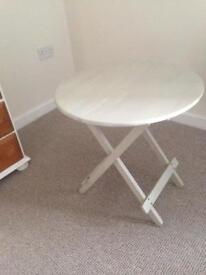 Shabby chic style small folding table