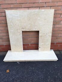 Marble fireplace surround and Hearth
