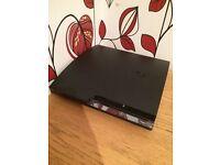 PS3 Slim 320GB Excellent Condition! Game Bundle + Pad + Wires!
