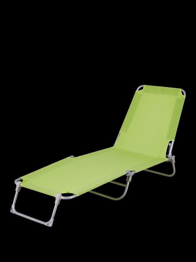 Lime Green Brighton Sun Lounger.