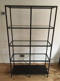 display unit, back steel and glass.