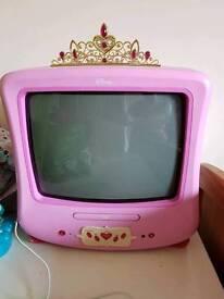 Disney princess tv and DVD player