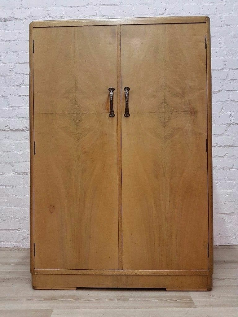 1930's Wardrobe With Shelves (DELIVERY AVAILABLE FOR THIS ITEM OF FURNITURE)