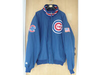 Chicago Cubs Baseball Jacket, Fleece Lined, Size large, Excellent Condition, Never Worn!