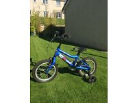 Ridgeback MX14 Terrain children's bike perfect for age 3-5 with stabilisers - great condition